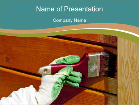 Hand painting wooden PowerPoint Templates