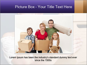 Woman with boxes PowerPoint Template - Slide 16