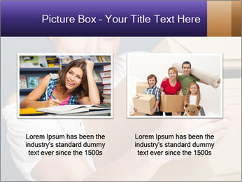 Woman with boxes PowerPoint Template - Slide 18
