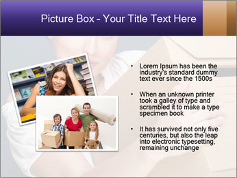 Woman with boxes PowerPoint Template - Slide 20