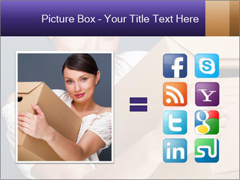 Woman with boxes PowerPoint Template - Slide 21