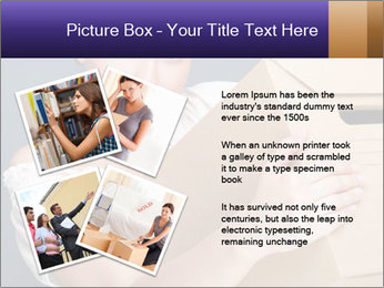 Woman with boxes PowerPoint Template - Slide 23