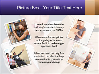 Woman with boxes PowerPoint Template - Slide 24