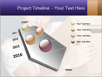 Woman with boxes PowerPoint Template - Slide 26