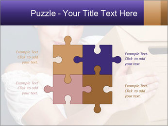 Woman with boxes PowerPoint Template - Slide 43
