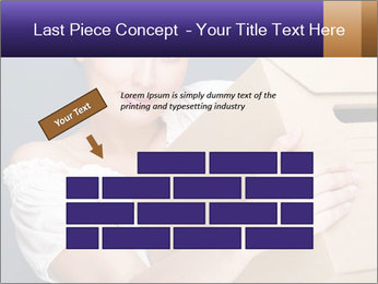 Woman with boxes PowerPoint Template - Slide 46