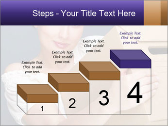 Woman with boxes PowerPoint Template - Slide 64