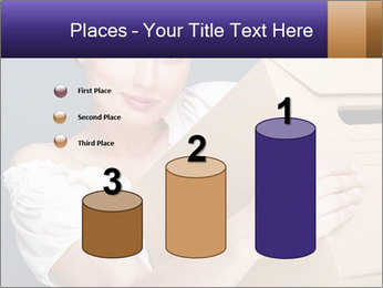 Woman with boxes PowerPoint Template - Slide 65