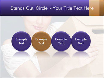 Woman with boxes PowerPoint Template - Slide 76
