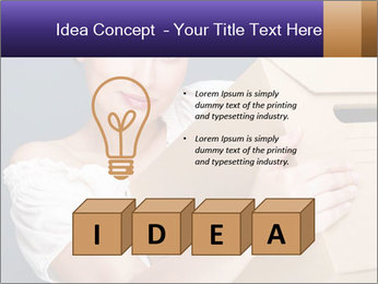 Woman with boxes PowerPoint Template - Slide 80