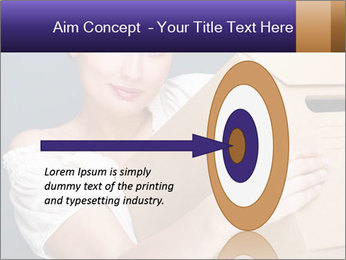 Woman with boxes PowerPoint Template - Slide 83