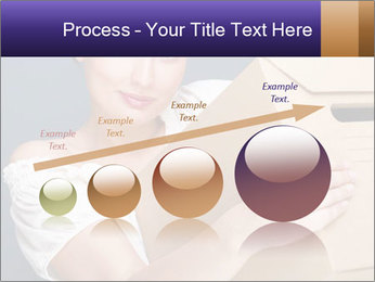 Woman with boxes PowerPoint Template - Slide 87