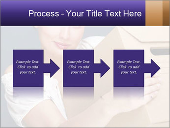 Woman with boxes PowerPoint Template - Slide 88