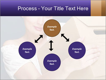 Woman with boxes PowerPoint Template - Slide 91