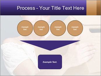 Woman with boxes PowerPoint Template - Slide 93