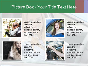 Woman showing drivers license PowerPoint Template - Slide 14