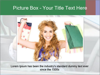 Woman showing drivers license PowerPoint Template - Slide 16