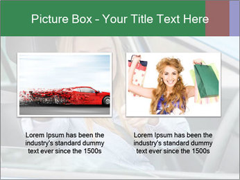 Woman showing drivers license PowerPoint Template - Slide 18