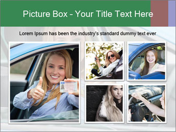 Woman showing drivers license PowerPoint Template - Slide 19