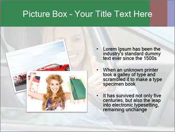 Woman showing drivers license PowerPoint Template - Slide 20
