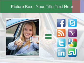 Woman showing drivers license PowerPoint Template - Slide 21