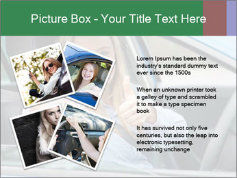 Woman showing drivers license PowerPoint Template - Slide 23