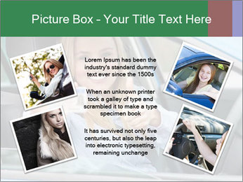 Woman showing drivers license PowerPoint Template - Slide 24