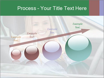 Woman showing drivers license PowerPoint Template - Slide 87