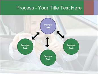 Woman showing drivers license PowerPoint Template - Slide 91
