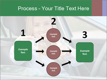 Woman showing drivers license PowerPoint Template - Slide 92