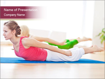 Group of sport women PowerPoint Template