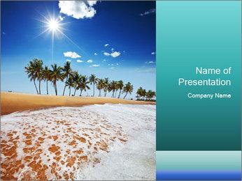 Beach PowerPoint Template - Slide 1