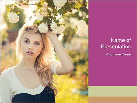 Beautiful blonde PowerPoint Templates