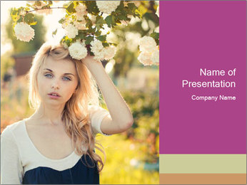 Beautiful blonde PowerPoint Template