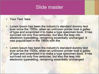 Beautiful blonde PowerPoint Template - Slide 2