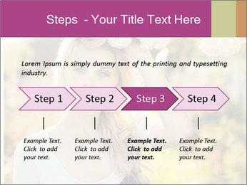 Beautiful blonde PowerPoint Template - Slide 4