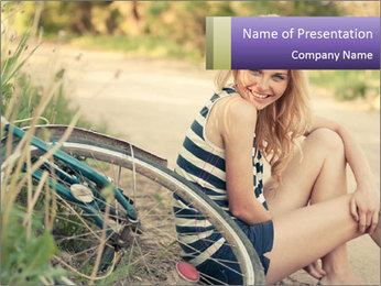 Beautiful smiling girl PowerPoint Template