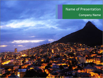Cape Town city PowerPoint Template