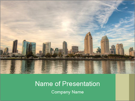 Skyline in California PowerPoint Template