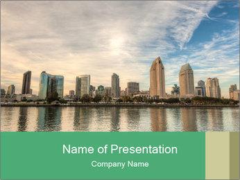 Skyline in California PowerPoint Template - Slide 1