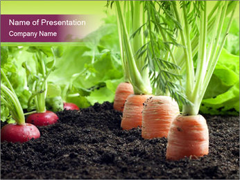 Vegetables PowerPoint Template - Slide 1