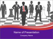 Moving business man PowerPoint Templates