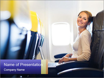 Woman working PowerPoint Template - Slide 1