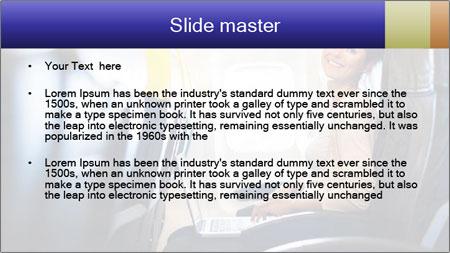 Woman working PowerPoint Template - Slide 2