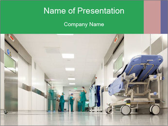 Hospital hallway PowerPoint Template