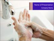 Washing of hands PowerPoint Templates