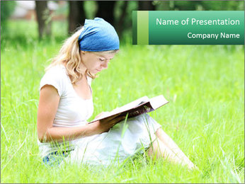 Young girl PowerPoint Template