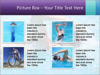 Man swimming PowerPoint Template - Slide 14