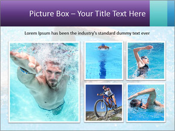 Man swimming PowerPoint Template - Slide 19