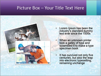 Man swimming PowerPoint Template - Slide 20